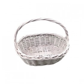 White Weaved Basket