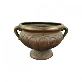Wide Faux Copper Pot